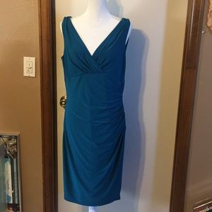 Lauren Ralph Lauren teal/blue dress, 14